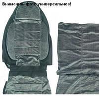 Чехлы сидения Pilot  2+1 Бус Газель кожзам черный + ткань темно- серая