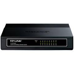 Комутатор мережевий TP-Link TL-SF1016D 16 портів виходів Ethernet 10 / 100 Мбіт / сек настільний