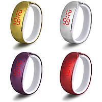 Модные женские наручные LED часы и браслет 2 в 1