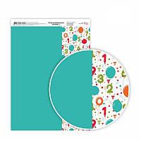 """Бумага дизайнерская """"Birthday"""", 21х29,7 см , односторонняя, плотность 250 г/м2"""