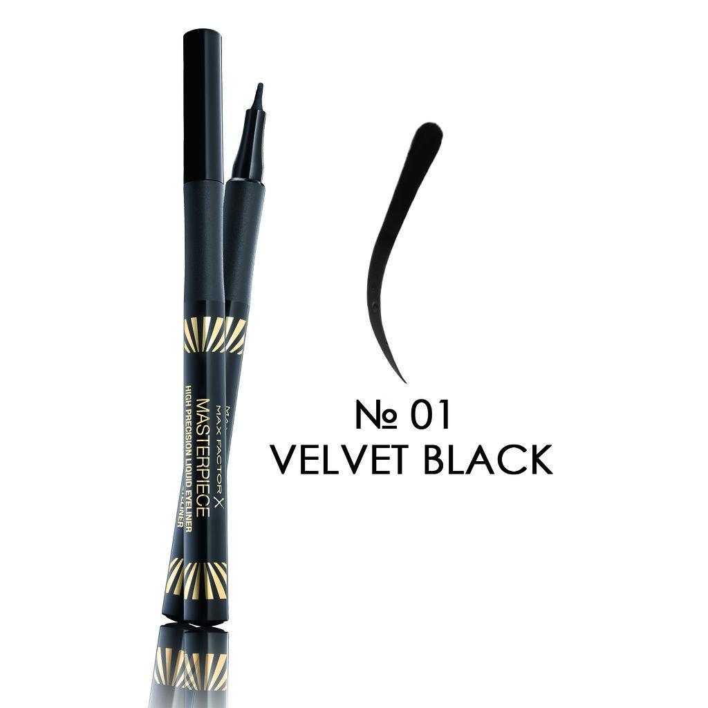 MF Masterpiece N01 Velvet Black - Подводка для глаз, 1.7 мл