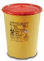 Одноразовый круглый контейнер желто/красный DISPO объемом 3,0 л