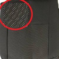 Чехлы сидения Ровер Бус задний диван (1,5) ткань черная+вставка