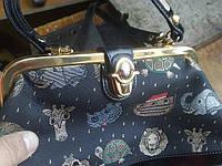 Ремонт замка- 'поцелуйчика' на сумке