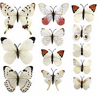 Бабочки на стену, холодильник, шторы набор 12 шт