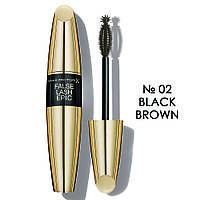 MF False Effect Epic N02 Black-Brown - Тушь для ресниц супер-объем, черная, 13.1 мл