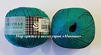 Пряжа Ажурная Пехорка, № 511, зеленка