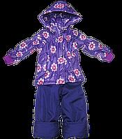 Детский весенний, осенний комбинезон (штаны на шлейках и куртка) на флисе и холлофайбере, р. 86 Д06