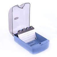 Коробка-картотека пластиковая для визиток ( 350 штук ) Eagle 808S