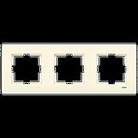 Рамка тройная горизонтальная кремовая VIKO KARRE 90960212