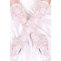 Длинные белые перчатки для особых событий