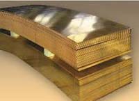 Латунный х/к ( медно-цинковый) гладкий лист / плита Л-63 1000х2000мм, 1500х600мм.