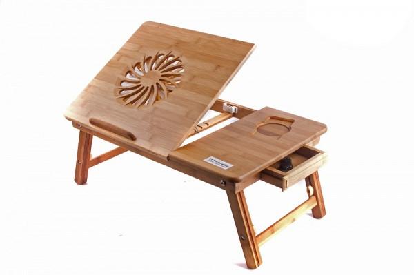 Бамбуковый столик под ноутбук