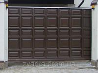 Ворота откатные (сдвижные, раздвижные) автоматические (филенка, шоколадка)