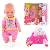 Кукла Ляля типа Baby Born BB 8001-3 9 функций, 10 аксессуаров