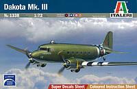 1:72 Сборная модель самолета Dakota Mk. III, Italeri 1338