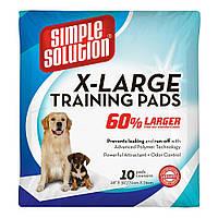 Супервпитывающие большие гигиенические пеленки для собак Simple Solution Training Extra Large Pads, 71*76 см