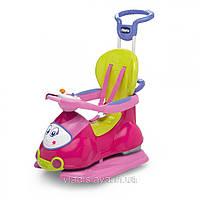 Детская каталка-толокар Chicco Quattro 4 в 1 розовый