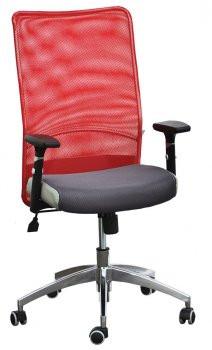Кресло АЭРО Люкс сиденье Сетка черная Неаполь 23/спинка Сетка красная.