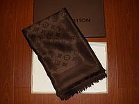 Шаль Louis Vuitton (Луи Витон) джинсовый Коричневый