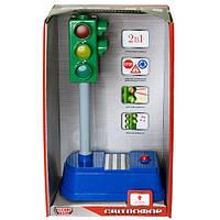 Игрушечные машинки и техника «Технопарк» (SB-15-01) Веселый светофор, 1:43 (звук. эффекты)
