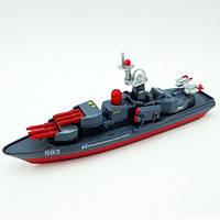 Игрушечные машинки и техника «Технопарк» (SB-14-19) военный корабль, 1:43 (звук. эффекты)