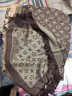 Шаль Louis Vuitton (Луи Витон) джинсовый Светло-коричневый