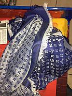 Шаль Louis Vuitton (Луи Витон) джинсовый Синий