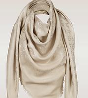 Платок/шаль Louis Vuitton (Луи Витон) Monogram 🔥 Бежевый