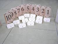 Банкетные карты и номера столов