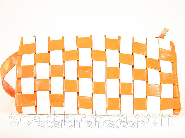 Клатч №022 бело-оранжевый  Артикул: 136776