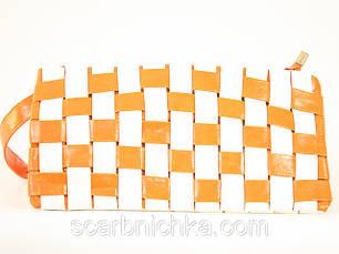 Клатч №022 бело-оранжевый  Артикул: 136776    , фото 2