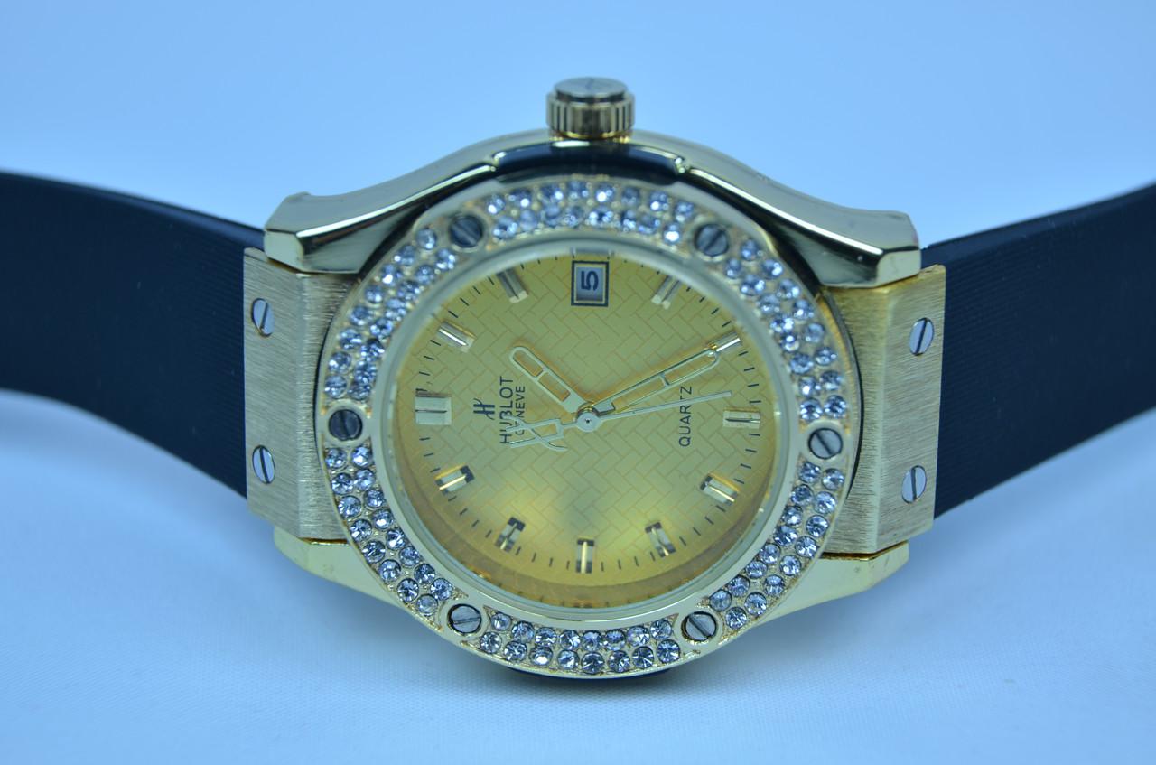 Женские часы HUBL-0T Big Bang Gold календарь