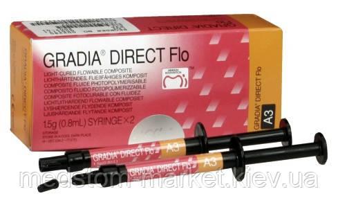 Gradia Direct Flo (Градиа Директ Фло), фотополимер, шприц 1.5г, GC, Япония