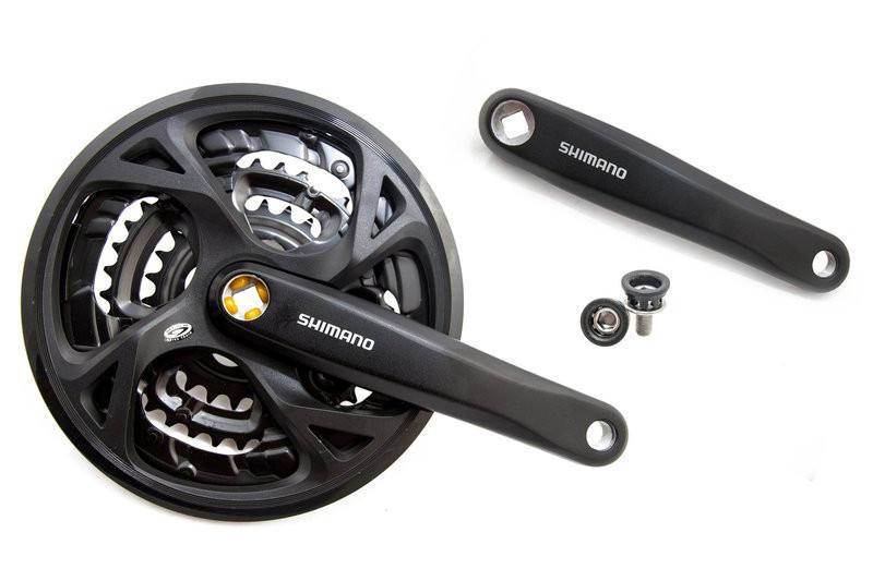 Велосипедні шатуни Shimano FC-M371 Acera 9 ск.(48-36-26), L-170 mm.