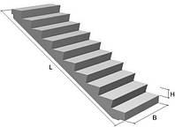 Лестничный марш ЛМФ 42 с фризовыми ступенями