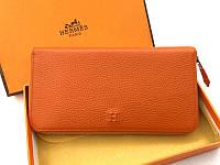 Женский кошелек Hermes (H-309) orange