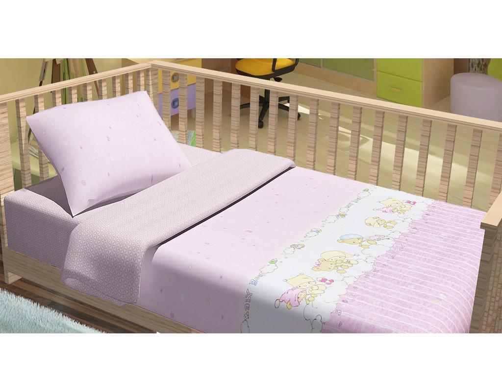Сменный постельный комплект в кроватку Baby Bear (Розовый), Top Dreams