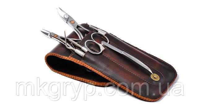 Маникюрный набор OLTON +кожаный чехол