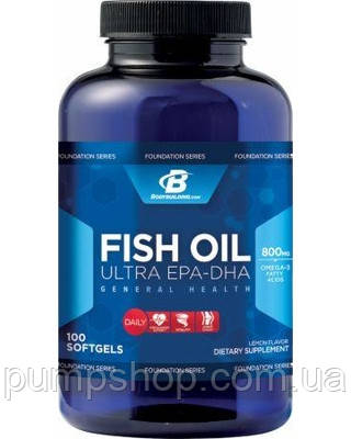 Bodybuilding. com Fish Oil Ultra EPA-DHA -100 капс