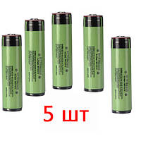5шт Аккумулятор 18650 Li-ion 4.2v NCR18650B 3400mah