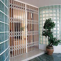 Решетки раздвижные на двери
