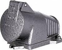 Силовая розетка металлическая, стационарная 3Р+Z, 400В, 32А, IP44