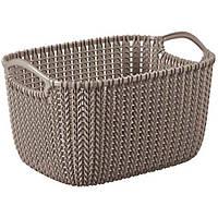 Корзина для вещей Curver Knit S коричневая