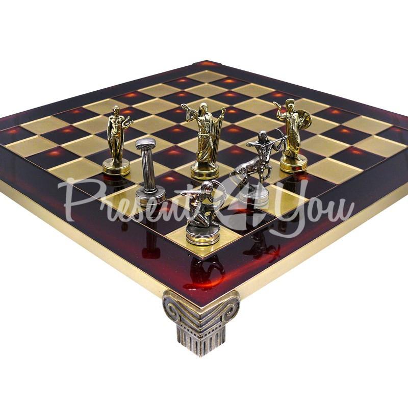 Шахматы «Римляне», красные, 36х36 см.