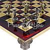 Шахматы «Римляне», красные, 36х36 см., фото 3
