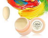 Гель-краска Canni 504 бледно-желтая