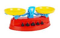 Игрушечные весы с гирьками для детей в кульке (Технок 2414)