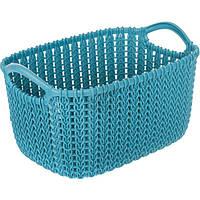 Корзина для вещей Curver Knit S темно-синяя