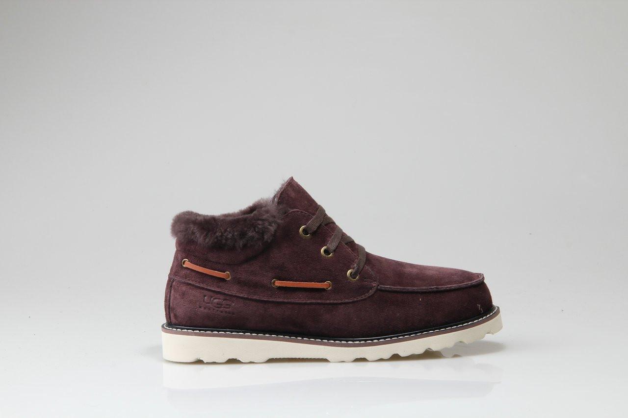 Мужские ботинки UGG David Beckham Lace Brown (Реплика ААА+)